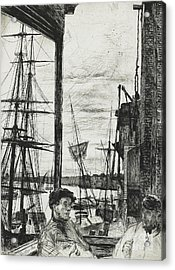 Rotherhithe Acrylic Print by James Abbott McNeill Whistler