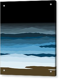Rough Seas Acrylic Print by Val Arie