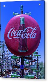 Round Coca Cola Sign Acrylic Print by Garry Gay