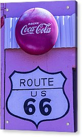 Route 66 Coca Cola Sign Acrylic Print by Garry Gay