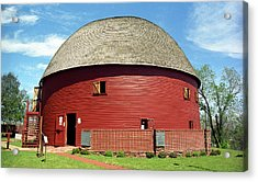 Route 66 - Round Barn Acrylic Print by Frank Romeo