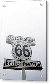 Route 66 Santa Monica- By Linda Woods Acrylic Print by Linda Woods