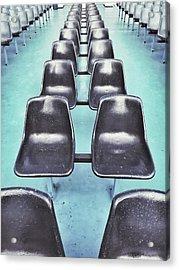 Row Of Seats  Acrylic Print by Tom Gowanlock