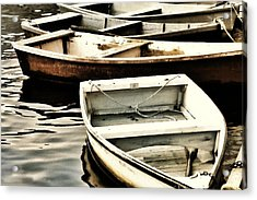 Rowboats In Maine Acrylic Print by Tony Grider