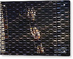 Rowing Through The Grate Acrylic Print by David Lee Thompson