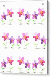 Rows Of Flowers Acrylic Print by Kathleen Sartoris