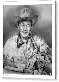 Roy Rogers Acrylic Print by Greg Joens