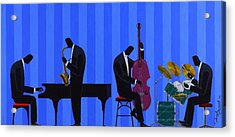 Royal Blues Quartet Acrylic Print by Darryl Daniels