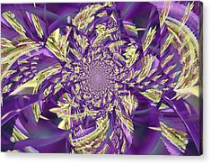 Royal Purple  Acrylic Print by Rose  Hill