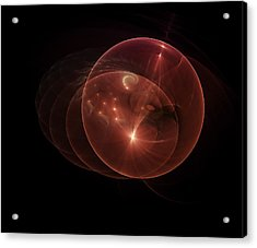 Royal, Red, Space Ball Anomaly Acrylic Print by Timothy Johnson