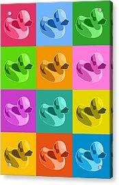 Rubber Ducks Acrylic Print by Michael Tompsett