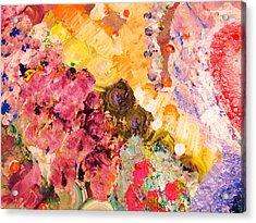 Ruby Sky Acrylic Print by HollyWood Creation By linda zanini