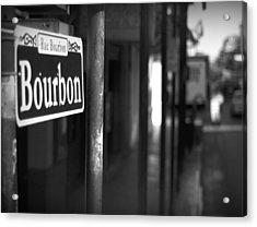 Rue Bourbon Acrylic Print by John Gusky