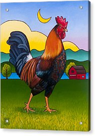 Rufus The Rooster Acrylic Print by Stacey Neumiller