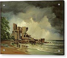 Ruins Near Kenosha Acrylic Print by Paul Krapf