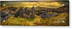 Ruins Of Snowdonia Panorama Acrylic Print by Adrian Evans