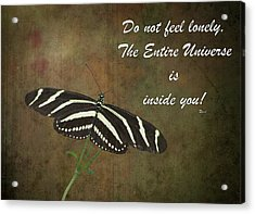 Rumi Quote-13 Acrylic Print by Rudy Umans