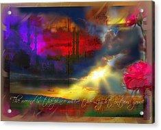 Rumi Rumination-1 Acrylic Print by Seema Sayyidah