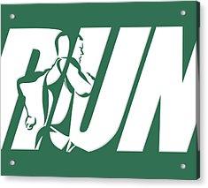 Run 2 Acrylic Print by Joe Hamilton