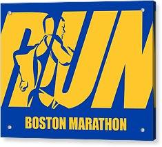 Run Boston Marathon Acrylic Print by Joe Hamilton