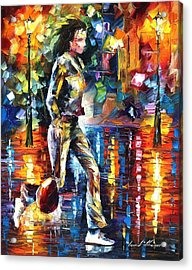Run - Palette Knife Oil Painting On Canvas By Leonid Afremov Acrylic Print by Leonid Afremov