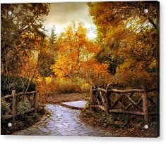 Rural Autumn Entrance Acrylic Print by Jessica Jenney