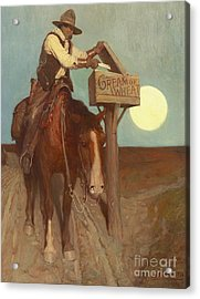 Rural Delivery Acrylic Print by Newell Convers Wyeth