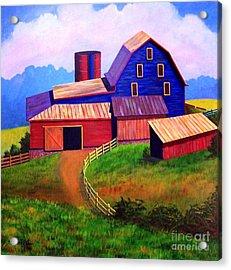 Rural Reverie Acrylic Print by Hugh Harris