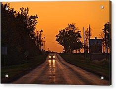 Rural Road Trip Acrylic Print by Steve Gadomski