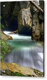 Rushing Water Acrylic Print by Marty Koch