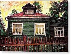 Russian House 2 Acrylic Print by Sarah Loft