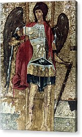 Russian Icons: Michael Acrylic Print by Granger