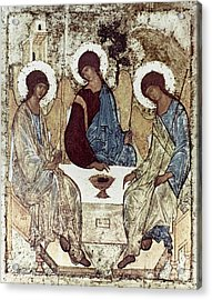 Russian Icons: The Trinity Acrylic Print by Granger