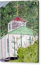 Russian Orthodox In Hoonah Acrylic Print by Larry Wright