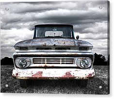 Rust And Proud - 62 Chevy Fleetside Acrylic Print by Gill Billington