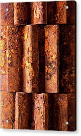 Rusted Gears 2 Acrylic Print by Jim Hughes