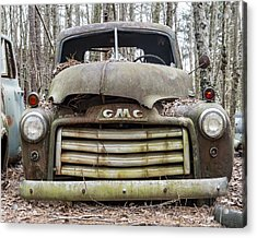 Rusted Gmc Pickup Truck Acrylic Print by Robert Myers