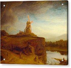 Rustic 9 Rembrandt Acrylic Print by David Bridburg
