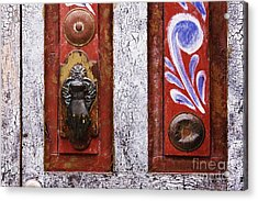 Rustic Door Acrylic Print by Jeremy Woodhouse