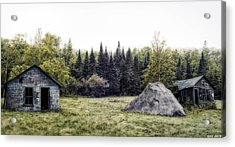 Rustic Remnants Acrylic Print by Richard Bean