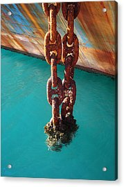 Rusty Art Acrylic Print by Kelly Jones