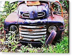 Rusty Blue Acrylic Print by Jame Hayes