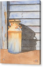 Rusty Milk Acrylic Print by Ken Powers