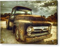 Rusty Truck Acrylic Print by Mal Bray