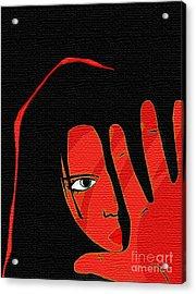 S T O P Acrylic Print by Mimo Krouzian