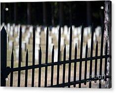 Sackets Harbor Military Cemetery Acrylic Print by Fred Lassmann