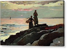 Saco Bay Acrylic Print by Winslow Homer