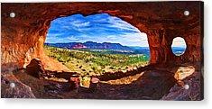 Sacred Ground - Shaman's Cave Acrylic Print by ABeautifulSky Photography