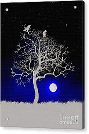 Sacred Raven Tree Acrylic Print by Robert Foster