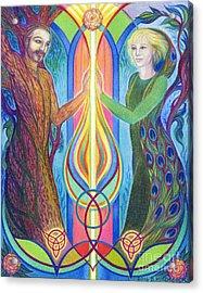 Sacred Union Acrylic Print by Debra A Hitchcock